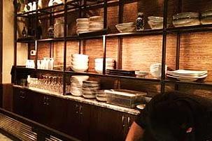 rayonnage des restaurants